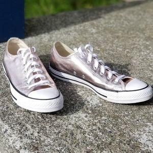 Converse all star metallic pink sneakers sz 10